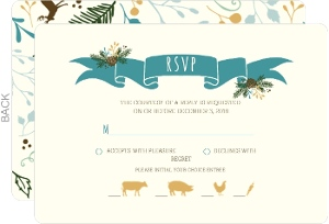 Country Charm Wedding Response Card