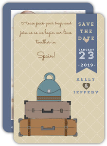 Travel Bags Save The Date Announcement