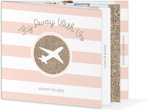 Glitz and Glamour Booklet Save The Date Announcement