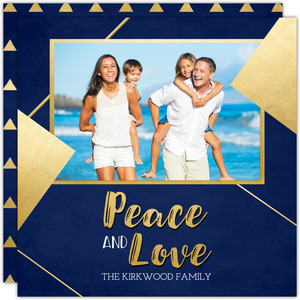 Geometric Peace Christmas Photo Card