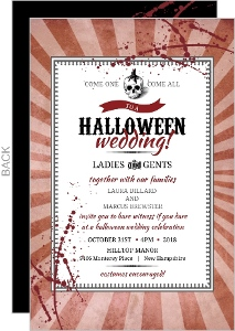 Vintage Steampunk Skull Halloween Wedding Invitation