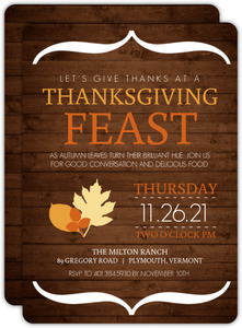 Modern Rustic Thanksgiving Invitation