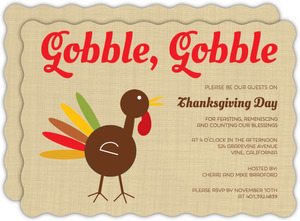Turkey Feast Thanksgiving Invitation