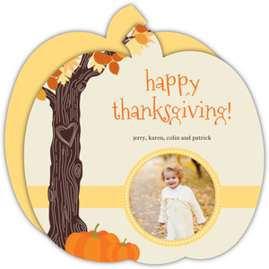 Autumn Tree Happy Thanksgiving Photo Card