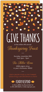 Give Thanks Confetti Thanksgiving Invitation