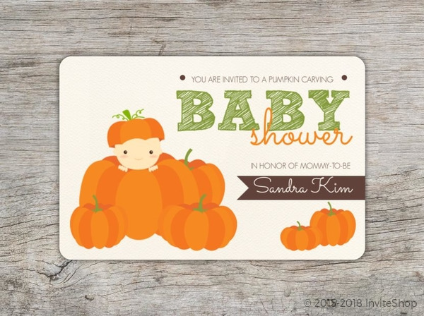 cute pumpkin carving baby shower invitation baby shower invitations
