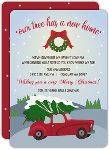 New Home For Tree Holiday Moving Announcement