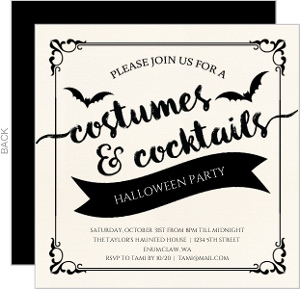 Wicked Elegance Halloween Party Invitation