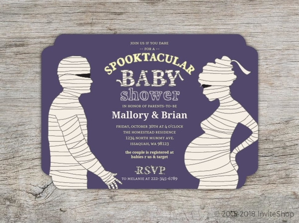 Mummified Spooktacular Halloween Baby Shower Invitation Baby - Halloween baby shower invitations
