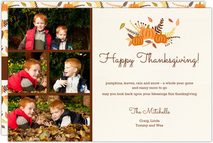 Thanksgiving Fall Foiliage Photo Collage Card