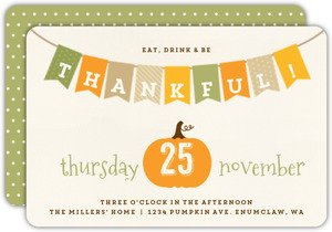 Thankful Banner Thanksgiving Invitation
