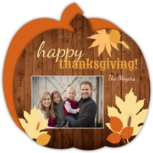 Fall Leaves Thanksgiving Photo Card