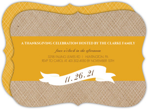 Simple Banner Thanksgiving Invitation