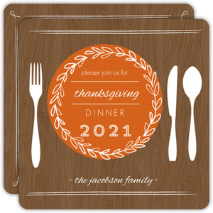 Thanksgiving Table Setting Invitation