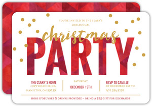 Festive Red Pattern Holiday Party Invitation
