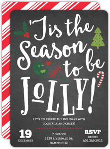 Whimsical Jolly Season Holiday Party Invitation
