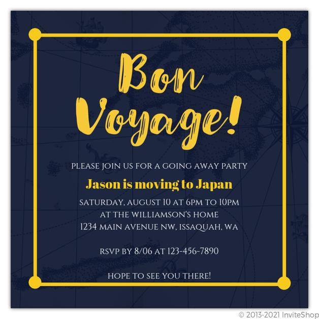 beautiful bon voyage party invitation and 97 bon voyage party invitation wording