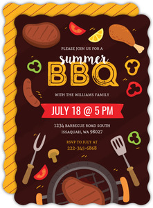 Steak Grilling BBQ Party Invitation