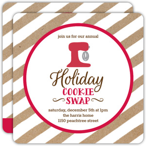 Retro Cookie Swap Holiday Party Invitation