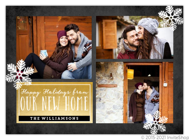 Our New Home Holiday Moving Announcement Holiday Cards