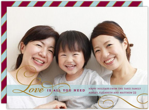 Classic Love Holiday Photo Card