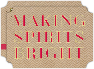 Making Spirits Bright Faux Foil Holiday Photo Card