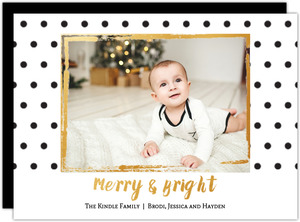 Modern Simplicity Holiday Photo Card