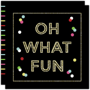 Oh What Fun Faux Glitter Holiday Party Invitation