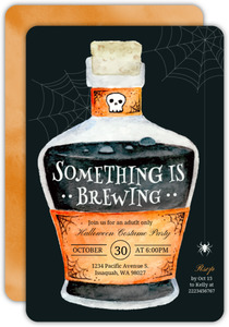 Something is Brewing Halloween Party Invitation