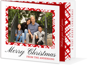 White & Red Peppermint Pattern Christmas Photo Booklet