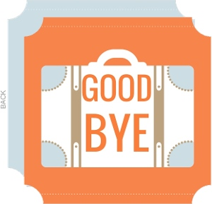 Goodbye Going Away Card