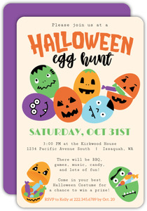 Halloween Egg Hunt Party Invitation