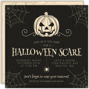 Creepy Halloween Scare Costume Party Invitation
