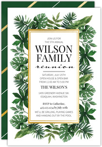 Greenery Family Reunion Invitation