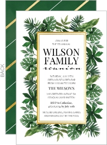 Superior Greenery Family Reunion Invitation