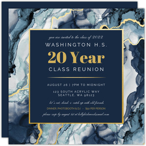 Modern Ink Geode Class Reunion Invitation