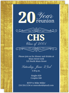 20 Year School Reunion Invitation