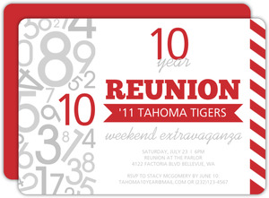 Modern Stripes Class Reunion Invitation