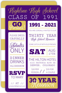 Simple and Bold Class Reunion Invitation