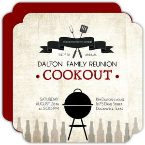 Family BBQ Cookout Reunion Invitation