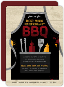 BBQ Apron Family Reunion Invitation
