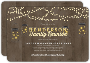 Rustic Woodgrain Family Reunion Invitation