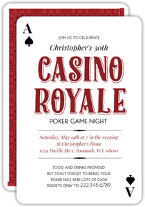 Casino Royale Poker Party Invitation