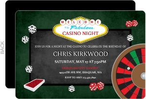 Rolling the Dice Casino Party Invitation