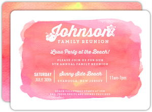 Aloha Family Reunion Invitation