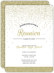 Retro Birds Class Reunion Invitation