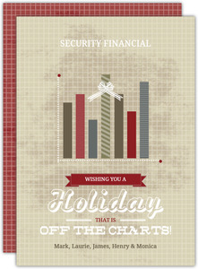 Festive Bar Graph Business Holiday Card