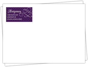 Elegant Royal Purple Wedding Custom Envelope