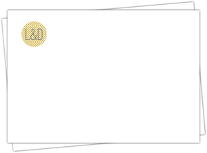 Delicate Gold Chevron Custom Envelope