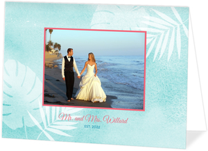 Seaside Oasis Wedding Thank You Card